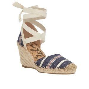 Sam Edelman Patsy Ankle Tie Espadrille Size 8